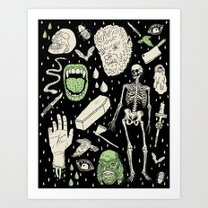 Whole Lotta Horror: BLK ed. Art Print