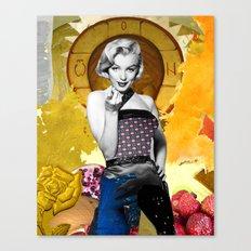 Golden Marilyn Monroe  By Zabu Stewart Canvas Print