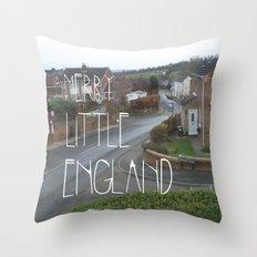 Merry Little England Throw Pillow