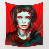 dragon Wall Tapestries featuring Wasp by Alice X. Zhang