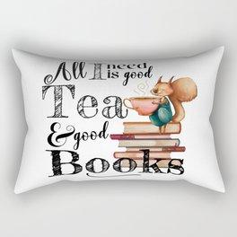 Tea & Books Rectangular Pillow