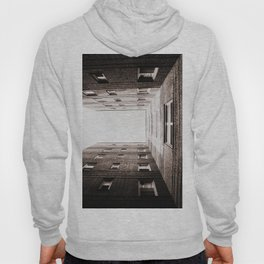 New York City Brown Brick Apartment Building, NYC Urban Queens Hoody