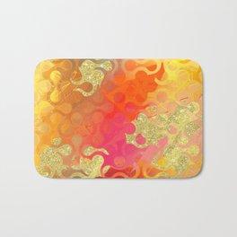 Decorative Gold Sparkling Bright Abstract Design Badematte