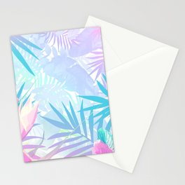 Pastel Rainbow Tropical Paradise Design Stationery Cards