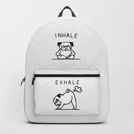 Inhale Exhale Pug Backpack