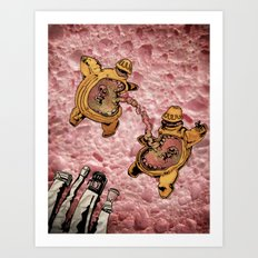 One Thousand Pardons: TummyBuddies: Psychic Warriors Connected by their Bellies Art Print