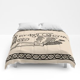 Be Cheerful, Live Well Skeleton Comforters