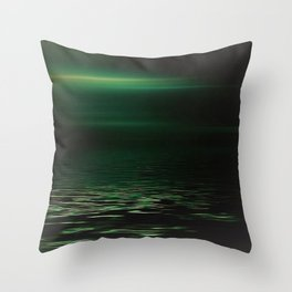Light-Green sea at twilight Throw Pillow