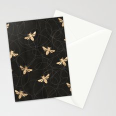 Busy Bees (Black) Stationery Cards