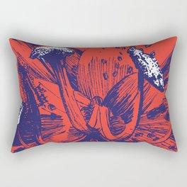 Red Lily Rectangular Pillow