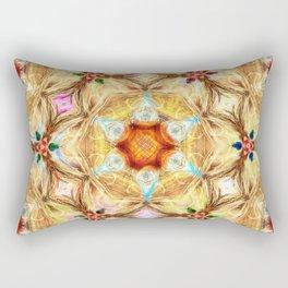 kaleidoscope - releitura de um jardim Rectangular Pillow