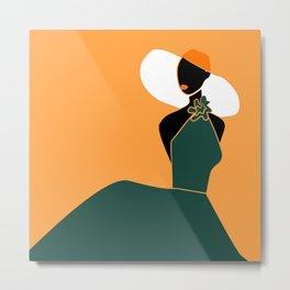Midnight Citrus - Lady No 02 Metal Print