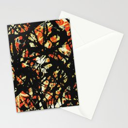 Vectorised and digitally modified, Jackson Pollock style fine art decor and clothing Stationery Cards