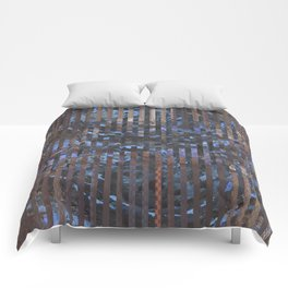 Abstract blue and brown Comforters