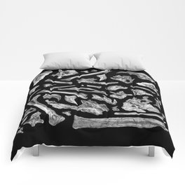 dinosaur anzu skeleton bones Comforters