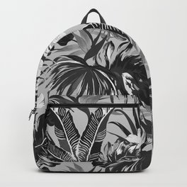 Bird of Paradise Hawaii Rainforest Black and White Backpack