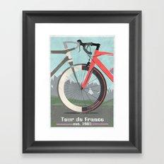 Tour De France Bicycle Framed Art Print