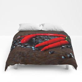 Hot Chilly and Coffee Beans Comforters