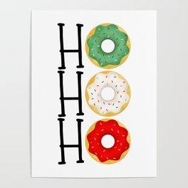 Ho Ho Ho - Holiday Donuts Poster