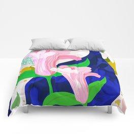 Blue Leaf Comforters