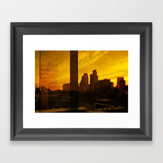 golden minneapolis Framed Art Print