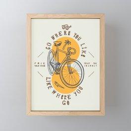 Go Where You Like Framed Mini Art Print
