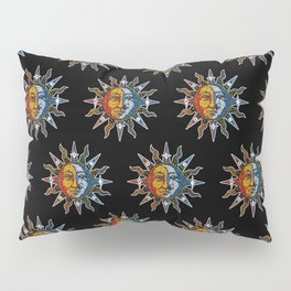 Celestial Mosaic Sun and Moon Pillow Sham