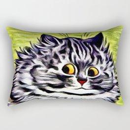"Louis Wain's Cats ""Kitty On Coffee Break"" Rectangular Pillow"