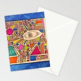 Tribal Eye Geo Melee Stationery Cards