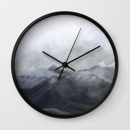 happy in the mountains Wall Clock
