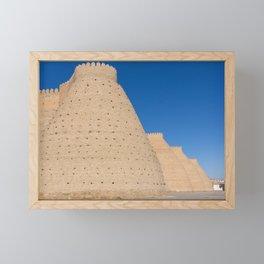 Wall of Bukhara - Uzbekistan Framed Mini Art Print