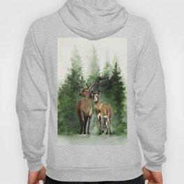 Deers in the Forest Hoody