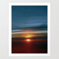 35.000 feet above  Art Print
