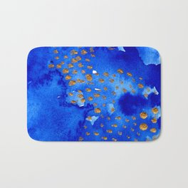 gold snow I Bath Mat