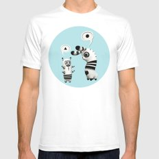 Lally Lama Mens Fitted Tee White MEDIUM