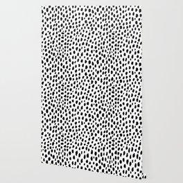 Dalmatian Spots (black/white) Wallpaper