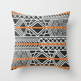 Tribal ethnic geometric pattern 022 Throw Pillow
