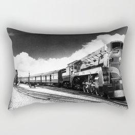 CN Trains pulling Royal Tour cars -Trains du CN tirant les voitures de la tournée royale  Rectangular Pillow