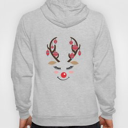 Reindeer sleigh Santa Claus Rudolph gift Hoody