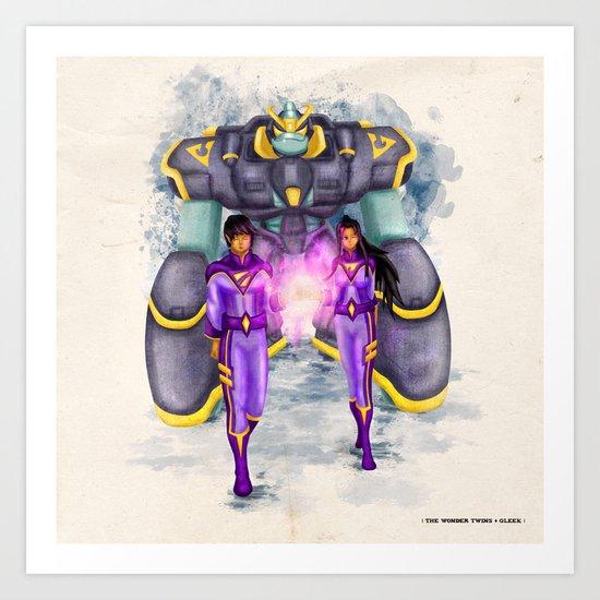 The Wonder Twins + Gleek Art Print