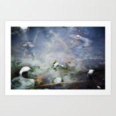 frozen lakes Art Print