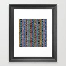 Knit Stitch Pattern Framed Art Print