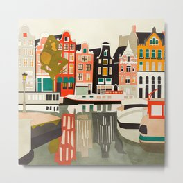 shapes houses of Amsterdam Metal Print