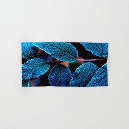 Peacock Blue Leaves Nature Background #decor #society6 #buyart Hand & Bath Towel