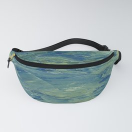 Abstract Blue Green Waves of Aqua Ocean Blue Mountains Fanny Pack