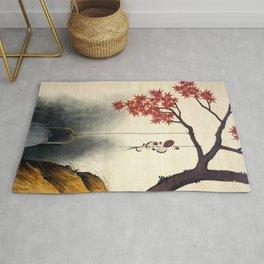 Shibata Zeshin - Autumn Maple, Shiitake Mushroom, Kettle - Digital Remastered Edition Rug