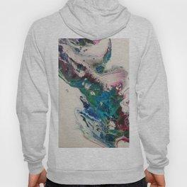 Fluid Nature - Hummingbird Blur - Abstract Acrylic Art Hoody