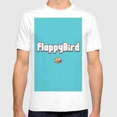 Flappy Bird Mens Fitted Tee White MEDIUM