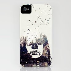 Tousled bird mad girl Slim Case iPhone (4, 4s)
