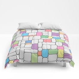 Pastel Stone Wall Comforters